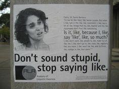 """stop saying """"like"""""""
