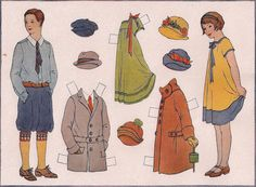 | Industrial Arts Paper Doll | Industrial and Applied Art Books #4 Mentzer Bush and Co.  1926