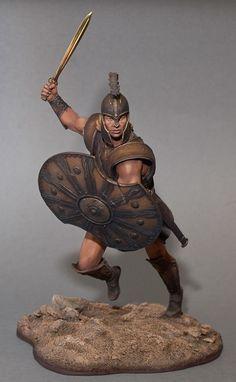 Ancient Greek miniature soldier.