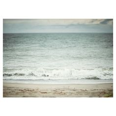 Beach photograph 5x7 Sun surf sand sky by LisaRussoPhotography ❤ liked on Polyvore