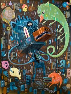 Recent Paintings ( 2010 / 2011 ) by Seb NIARK1 FERAUT, via Behance