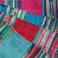 Fair Trade Indian Rag Rug 3'x5' Mexican Style - Recycled, 100% Cotton