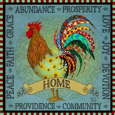 I Love Chickens! These prints are SOOO beautiful to me!!