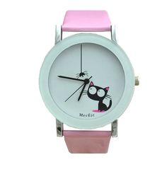 Spider & Cat Wristwatch www.catobsession.com