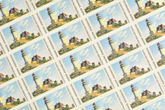 25 Maine Postage Stamps - - Maine Statehood - 1970 - Unused Postage - Quantity of 25 Edward Hopper, Wedding Envelopes, Vintage Stamps, Unique Vintage, Birthday Invitations, Maine, Decoupage, Craft Projects, Photo Wall