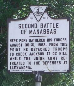 Here, this sign tells you more about the Second Battle of Bull Run. Fairfax County, Union Army, Flea Markets, Famous Places, American Civil War, Back Home, Swords, Monuments, Road Trips