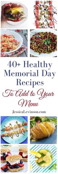 40 Healthy Memorial Day Recipes to Add to Your Menu Healthy Summer Recipes, Healthy Eating Tips, Clean Eating Recipes, Real Food Recipes, Vegetarian Recipes, Eat Seasonal, Party Dishes, Holiday Recipes, Dinner Recipes