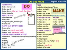 Do and Make Mais