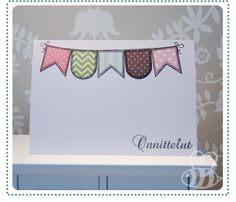 Patterned flags / mai makings