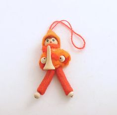 Vintage Christmas Ornament Boy Trumpet by efinegifts on Etsy, $5.95