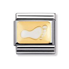 Nomination Composable Classic White Footprint Charm