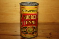Vintage spice tin by TheCrowWhispers on Etsy, $6.50