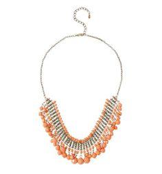 Collier perlé Femme corail - Promod