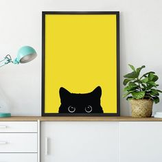 Pin by GeDecor on Quadros com Molduras – Animais in 2020 Cute Canvas Paintings, Small Canvas Art, Mini Canvas Art, 3 Piece Canvas Art, Diy Wall Painting, Cat Art, Creative Art, Watercolor Art, Art Drawings