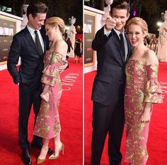 Matt with Claire Foy at The Crown premiere