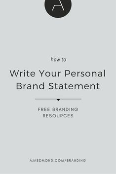 how to write your personal brand statement - Learn how I made it to in one months with e-commerce! Personal Branding, Self Branding, Branding Your Business, Branding Design, Branding Ideas, Logo Design, Graphic Design, Business Grants, Small Business Resources