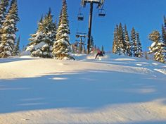 Kicking Horse Mountain Resort receivedthe most snowfall in BC this week.161 cm, 63