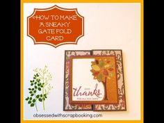 CTMH Artbooking Cricut Faux Gate Fold Card