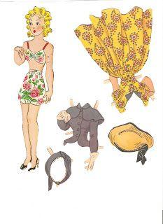 Miss Missy Paper Dolls: Blondie 1949-Blondie