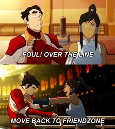 Poor Bolin! Friendzoned when he was a better guy than Mako by far.