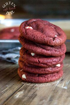 Gluten Free Red Velvet Soft Batch Chocolate Chip Cookies | Gluten Free on a Shoestring