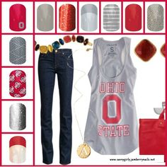 Ohio State Jamberry Nail Wraps  To order visit me at: www.savvygirly.jamberrynails.net or email me at thesavvygirly@gmail.com