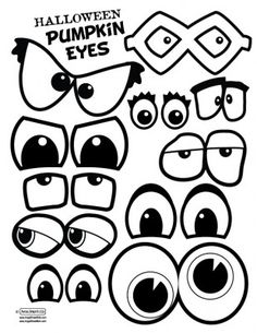 Pumpkin eyes and mouths. This would make a fun singing time. Have a few blank pumpkins either paper or real, and write song names on the back of the eyes and mouths. Halloween Pumpkins, Halloween Crafts, Halloween Decorations, Halloween Drawings, Fall Crafts, Holiday Crafts, Crafts For Kids, Pumpkin Eyes, Pumpkin Soup