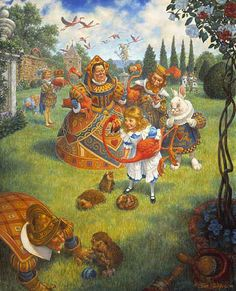 The Queen's Croquet-Ground-Scott Gustafson (American)