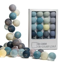 Coffret Guirlande lumineuse L Original Cr¨me Gris 2 2m BROOKLYN