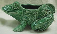 Green Frog Planter...McCoy Pottery