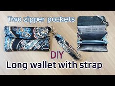 Fabric Wallet, Fabric Bags, Diy Long Wallet, Purse Wallet, Pouch, Wallet Tutorial, Bag Organization, Bag Making, Leather Bag
