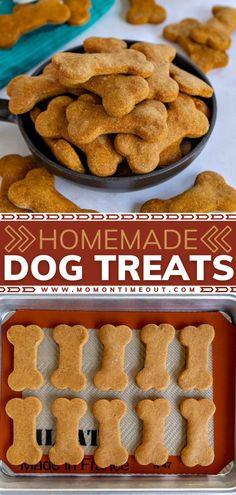Dog Cookie Recipes, Easy Dog Treat Recipes, Homemade Dog Cookies, Dog Biscuit Recipes, Homemade Dog Food, Healthy Dog Treats, Dog Food Recipes, Pumpkin Dog Treats Homemade, Peanut Butter Dog Cookies Recipe