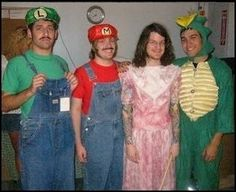 Fall Out Boy dressed up as Mario characters a few years back. And people call this band hard core.