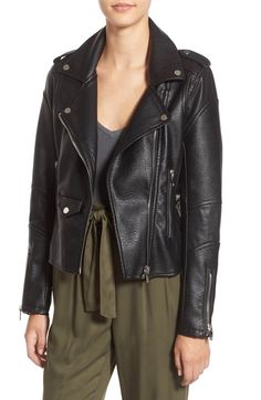 Main Image - BLANKNYC 'Easy Rider' Faux Leather Moto Jacket ($60)