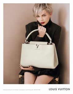 Michelle Williams: Louis Vuitton Ad Campaign Featuring The 'W' Tote and 'Capucines' Bag