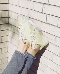 """11k Likes, 19 Comments - Anthropologie (@anthropologie) on Instagram: """"🍋👟☀️#tuesdayshoesday #regram @the.girlish.tomboy (link in profile to shop the Veja Lemon Yellow…"""""""