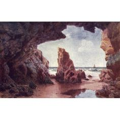 Channel Islands 1911 Needle Rock Jersey Canvas Art - Henry Bowser Wimbush (18 x 24)