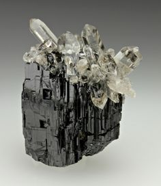 Quartz on Schorl / Mineral Friends