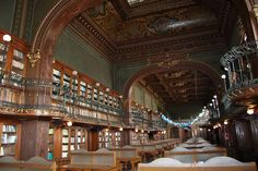 A friend of mine shared a link that was so majestic for me, I thought I'd share daily! Here's the first, a photo of a Romanian Technical University. (Iasi, Romania) School of Electrical Engineering and Computer Science Library. Amazing, yes? Magical Library, Beautiful Library, Dream Library, World Library, Library Books, Library Architecture, Architecture Design, Saint Florian, Technical University