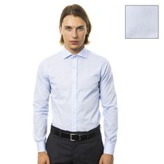 #Camicia collo francese in cotone azzurro  ad Euro 109.00 in #Thehurry # uominitaliani