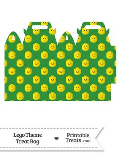 Green Lego Theme Treat Bag from PrintableTreats.com