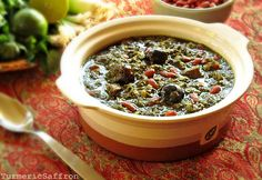 Khoresh-e Ghormeh Sabzi is one of the most delicious and popular dishes among Iranians. I've never met anyone who didn't like ghormeh sabzi. The combination of flavorful and aromatic herbs, slow cooked lamb cubes, fork-tender beans and dried lemons make the khoresh very tasty and nutritious.