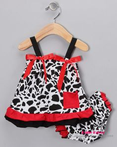 Free Shipping 2pcs Cow Ruffle Top Dress+Shorts Bloomers Pants Outfit Clothes For Baby Girl Infant Toddler Kids Black White Bow