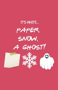 Paper, Snow, A Ghost! - Friends TV Show Art Print