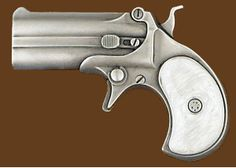 Belt Buckle - Derringer Gun