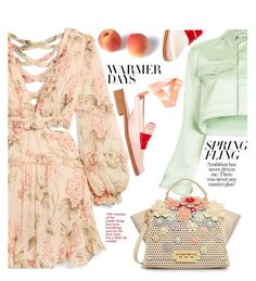 """""""Warmer Days Ahead: Spring Dresses"""" by ewa-naukowicz ❤ liked on Polyvore featuring Zimmermann, Off-White, ZAC Zac Posen, MR by Man Repeller and springdresses"""