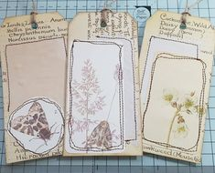 I made 3 collage tags today from leftover Edith Holden text pages! Vintage Type, Vintage Art, Journal Notebook, Junk Journal, Vintage Paper Crafts, Edith Holden, Paper Daisy, Ephemera, Book Art