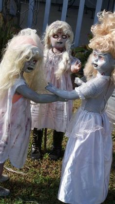 Scary eh? Here's what you might get. A spooky group of zombie kids standing in front of your house or in your yard will surely scare off sol...