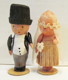 Vintage Kewpie Celluloid Wedding Cake Topper