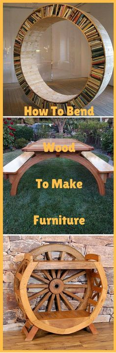 How To Bend Wood To Make Furniture: http://vid.staged.com/w4Qs #woodworkingbench #creativewoodworking